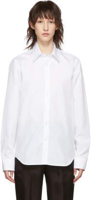 Helmut Lang White Poplin Logo Shirt
