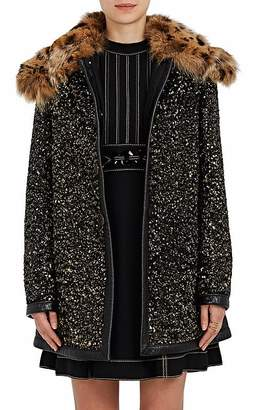 Marc Jacobs WOMEN'S FUR-COLLAR SEQUINED WOOL COAT