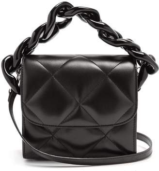 Marques Almeida MARQUES'ALMEIDA Oversized curb-chain quilted leather shoulder bag