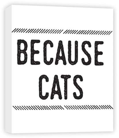 Because Cats Decorative Canvas Wall Art 11