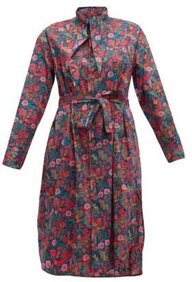 Vivienne Westwood Liberty Print Cotton Dress - Womens - Pink Multi