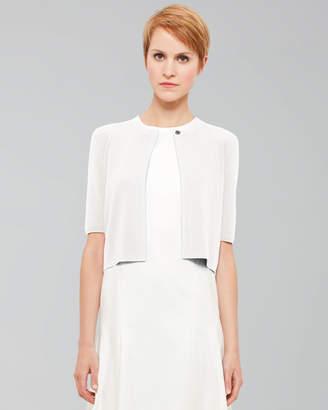 Akris Punto Half-Sleeve Cardigan Ivory