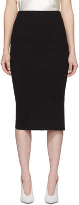Joseph Black Silk Stretch Pencil Skirt