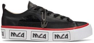 McQ Black and White Metal Logo Platform Sneakers