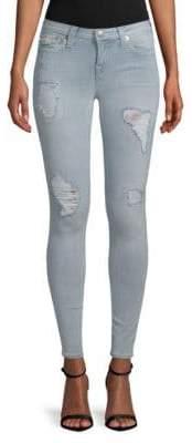 True Religion Super Skinny Distressed Stretch Jeans