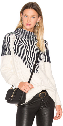 525 america Two Tone Turtleneck Sweater $193 thestylecure.com