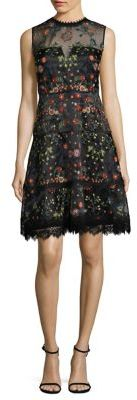 Elie Tahari Maritza Embroidered Organza Dress $598 thestylecure.com