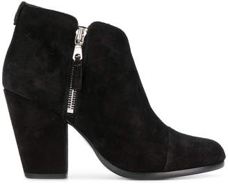 Rag & Bone side zip heeled ankle boots