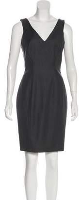 John Galliano Silk Sleeveless Mini Dress