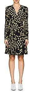 Derek Lam Women's Floral Silk Dress - Black Yellow