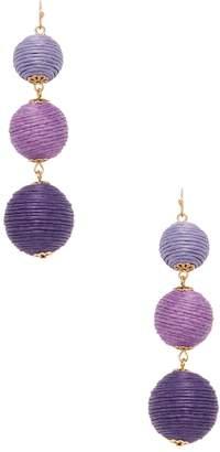 Kenneth Jay Lane Women's Triple Graduated Matte Multi Wrapped Ball Drop Earrings