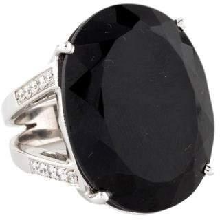 Ring 14K Black Tourmaline & Diamond