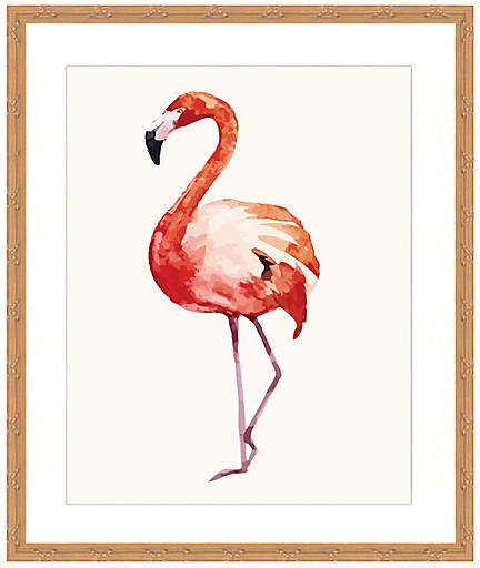 Watercolor Flamingo Print II - 18