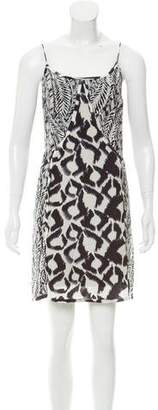 Vix Paula Hermanny Silk Abstract Print Dress w/ Tags