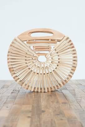 Love Stitch Wood Circle Clutch