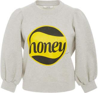 Ganni Graphic Balloon Sleeve Sweatshirt