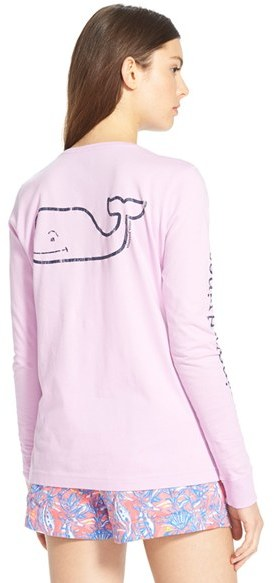 Women's Vineyard Vines Whale Print Long Sleeve Tee 2