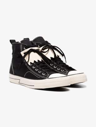 Visvim Black Skagway Kiltie High Top Sneakers