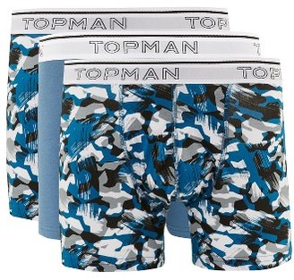 Men's Topman 3-Pack Abstract Camo Trunks $25 thestylecure.com