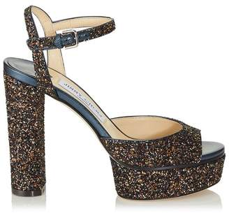 Jimmy Choo Peachy 125 Glitter Sandals