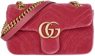 Gucci Mini Velvet Marmont Matelasse Shoulder Bag