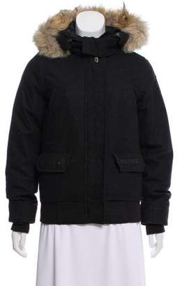Canada Goose Fur-Trimmed Wool Jacket