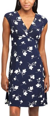 Women's Chaps Floral Surplice Empire Dress $95 thestylecure.com