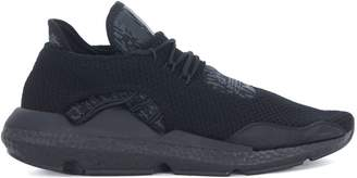 Y-3 Y 3 Saikou Black And Grey Technical Fabric And Suede Sneaker