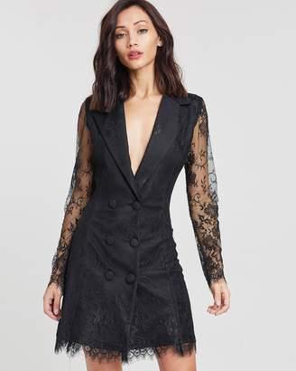 Missguided Lace Blazer Dress