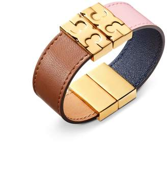 Tory Burch COLOR-BLOCK REVERSIBLE LEATHER BRACELET
