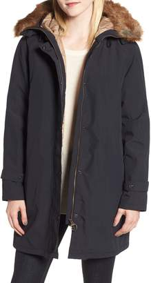 Barbour Dexy Jacket with Faux Fur Trim