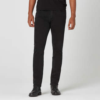 DSTLD Skinny-Slim Jeans in Black Worn
