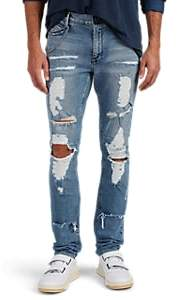 RtA MEN'S DISTRESSED SKINNY JEANS - BLUE SIZE 28