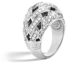 John Hardy Classic Chain 15mm Dome Ring with Diamonds