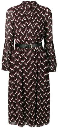 MICHAEL Michael Kors mandarin collar midi dress