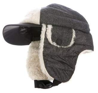 Moncler Wool Trapper Hat Blue Wool Trapper Hat