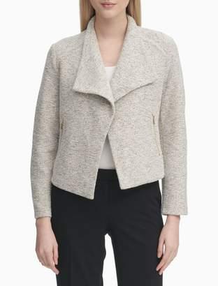 Calvin Klein Textured Flyaway Jacket