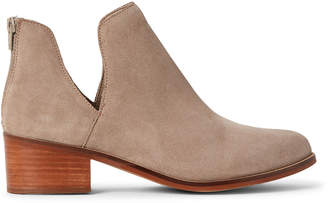 Steve Madden Taupe Rony Suede Ankle Booties