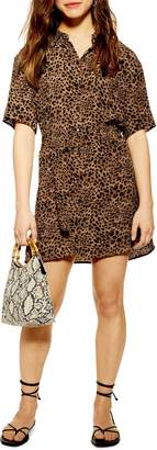 Topshop Animal Shirt Minidress