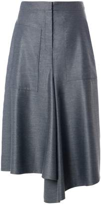Tibi Viscose Drape High Waisted Drape Skirt