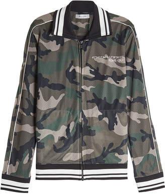 Valentino Camouflage Zipped Mesh Jacket