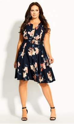 City Chic Citychic Sencha Floral Dress - black