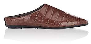 The Row Women's Bea Alligator Mules - Brown