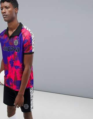 Asos 4505 soccer t-shirt with all over print