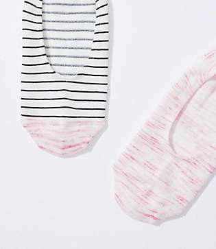 LOFT Space Dye & Stripe No Show Sock Set