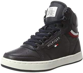 Tommy Hilfiger Unisex Kids' H3285oxton Jr 4a Low-Top Sneakers,2UK Child