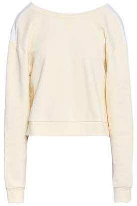 aee3d6b517b07a 3.1 Phillip Lim Gathered Poplin-paneled French Cotton-terry Top