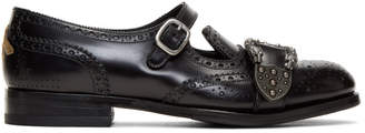 Gucci Black Queercore Brogue Monkstraps
