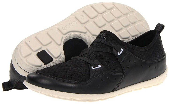 Ecco Jab Elastic Slip On (Black/Black) - Footwear
