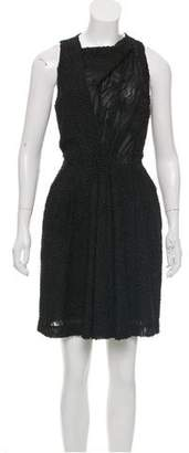 Balenciaga Velvet-Accented Sleeveless Dress